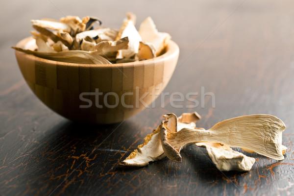 Stock photo: dried mushrooms