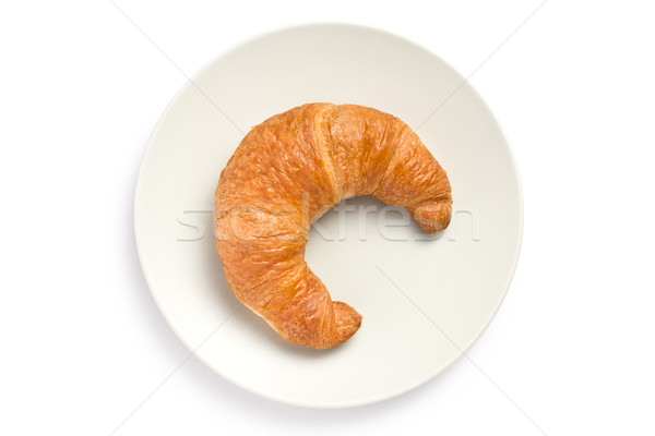 fresh croissant on plate Stock photo © jirkaejc