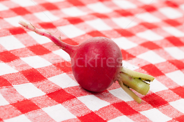 Vers radijs tafelkleed voedsel groep Stockfoto © jirkaejc