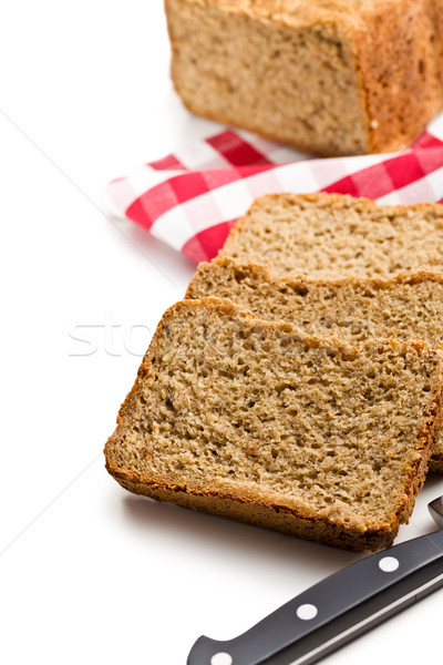 sliced homemade whole wheat bread Stock photo © jirkaejc