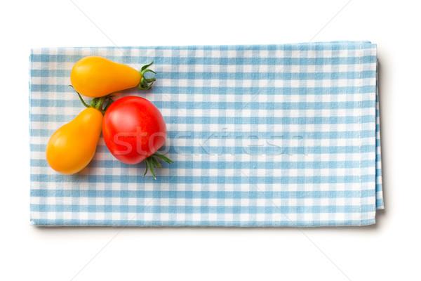 Stock photo: tomatoes on checkered napkin