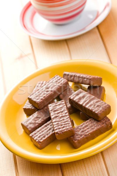 шоколадом печенье чашку кофе продовольствие конфеты десерта Сток-фото © jirkaejc