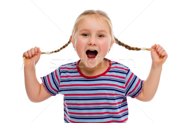Little girl with pigtails Stock photo © jirkaejc