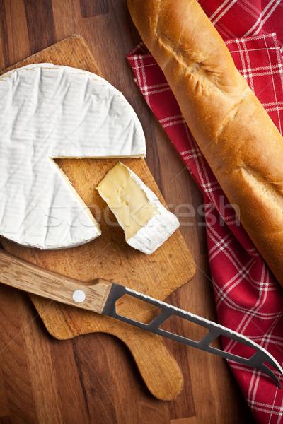 Camambert peynir mutfak masası gıda arka plan hayat Stok fotoğraf © jirkaejc