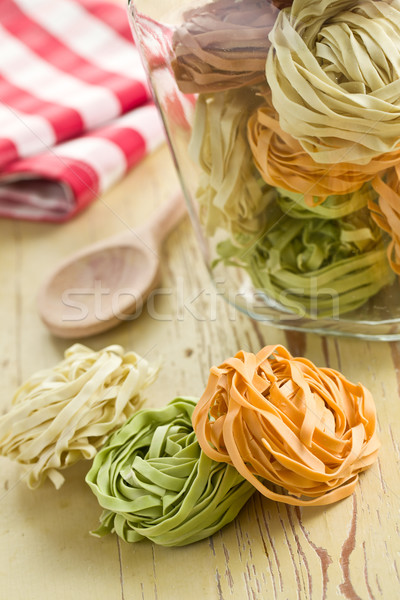 colorful pasta tagliatelle Stock photo © jirkaejc