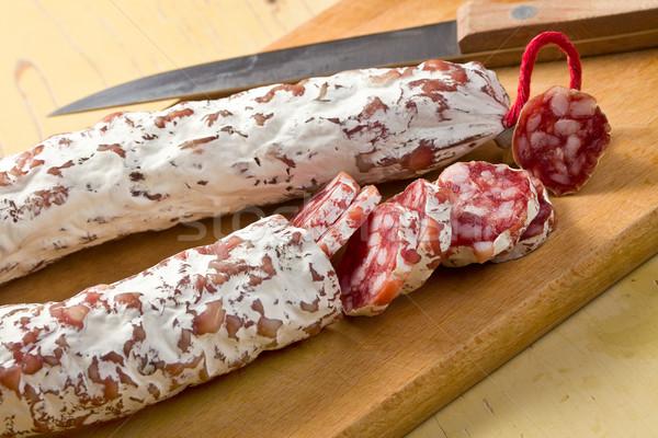 Francese bianco salsiccia tavolo da cucina alimentare cucina Foto d'archivio © jirkaejc