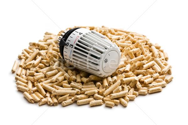 Ahşap termostat doğa arka plan güç beyaz Stok fotoğraf © jirkaejc