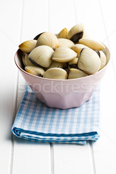 raw clams in ceramic bowl Stock photo © jirkaejc