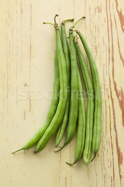 bean pods on wooden table Stock photo © jirkaejc