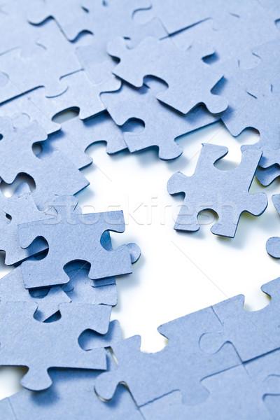 Kirakó darabok fehér üzlet absztrakt háttér űr Stock fotó © jirkaejc
