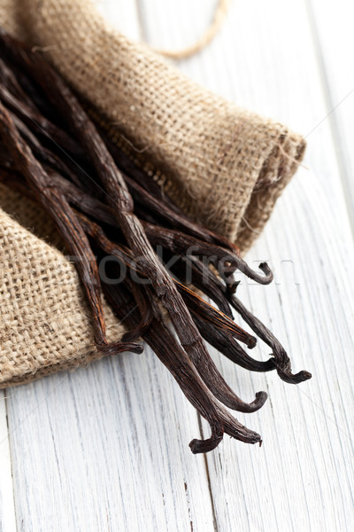 vanilla pods on kitchen table Stock photo © jirkaejc