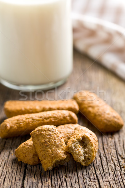Stock photo: wholemeal cookies with milk