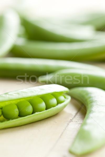 緑 エンドウ 写真 ショット 食品 自然 ストックフォト © jirkaejc