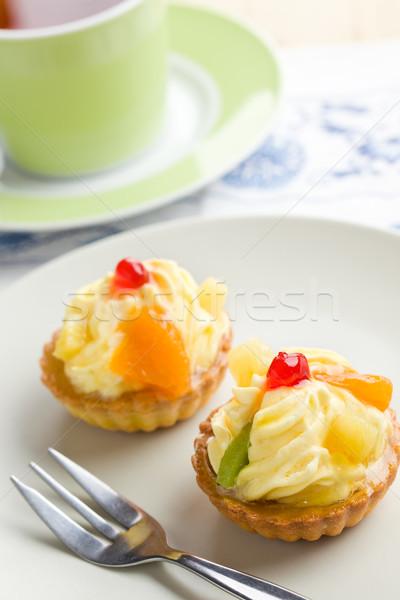 フルーツケーキ カップ ケーキ おいしい フルーツ レストラン ストックフォト © jirkaejc