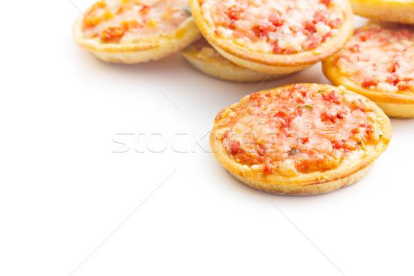 Stock photo: mini pizza