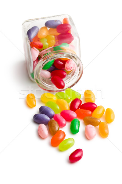jelly beans in glass jar Stock photo © jirkaejc