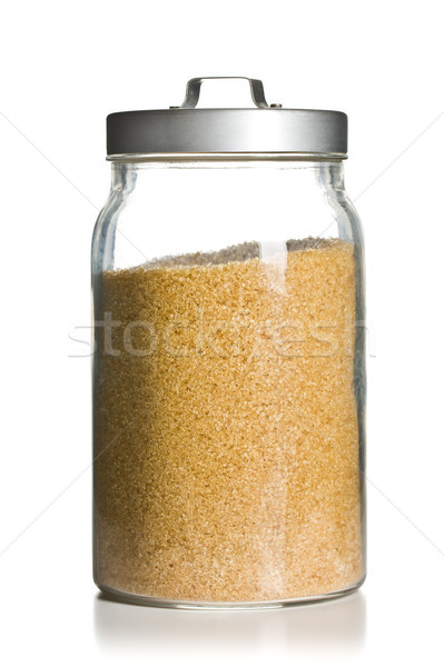 Cassonade jar blanche alimentaire verre santé Photo stock © jirkaejc