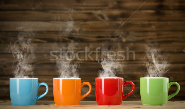cups with steaming drink Stock photo © jirkaejc