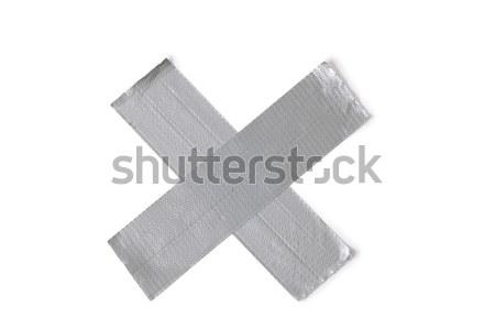 Ezüst ragasztószalag fehér építkezés háttér szalag Stock fotó © jirkaejc