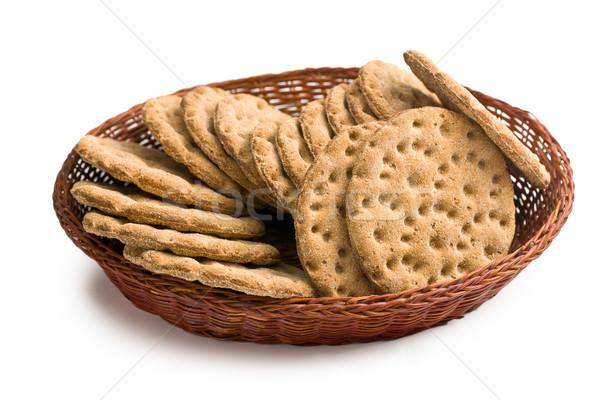 Crispbread in basket Stock photo © jirkaejc