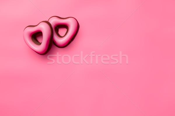 Banketbakkerij Valentijn harten top roze Stockfoto © jirkaejc