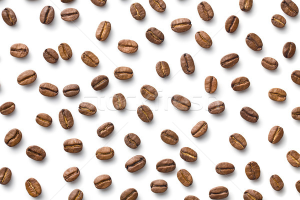 coffee beans on white background Stock photo © jirkaejc