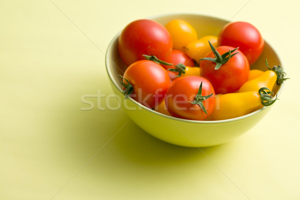 Stock photo: various tomatoes in bowl
