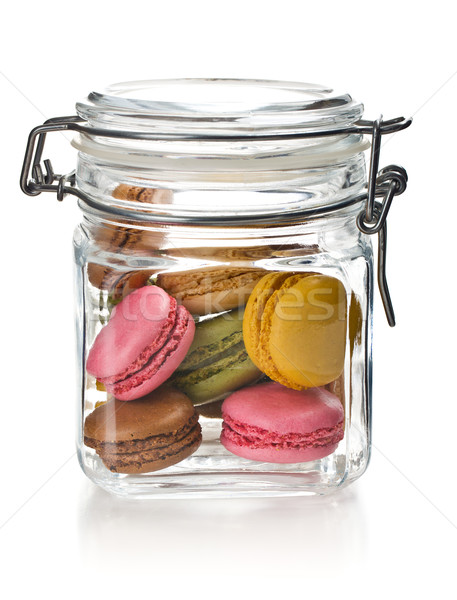 Vetro jar bianco sfondo torta candy Foto d'archivio © jirkaejc