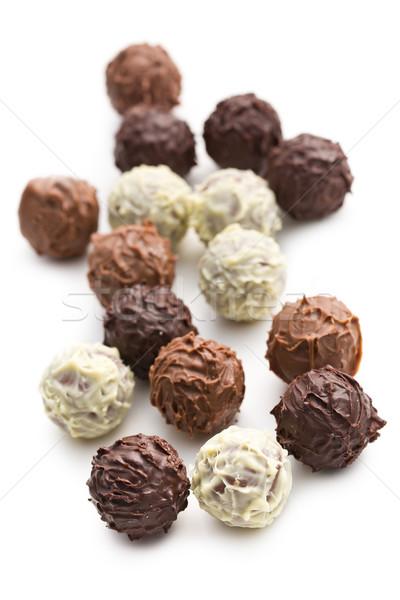 mix of chocolate truffles Stock photo © jirkaejc