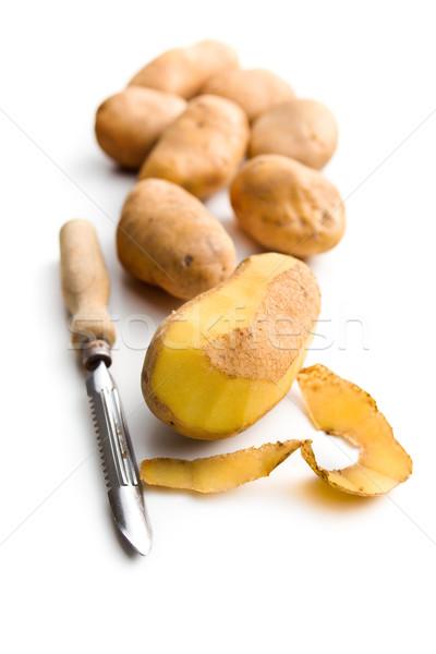 peeled potato with old potato peeler Stock photo © jirkaejc