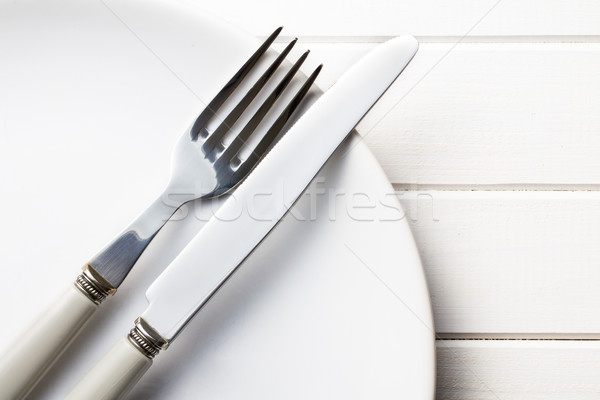 plate with cutlery Stock photo © jirkaejc