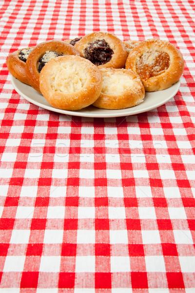 Stok fotoğraf: Kek · masa · örtüsü · fotoğraf · atış · gıda