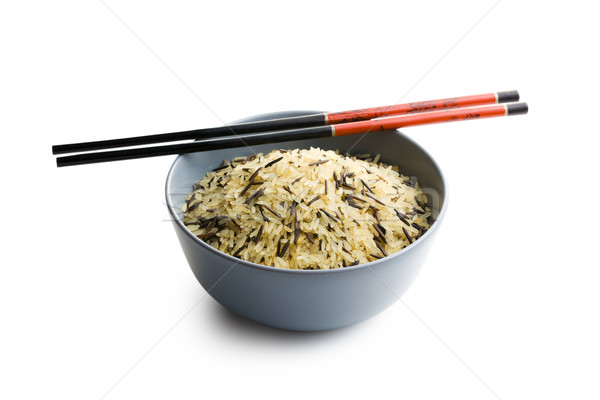wild rice in ceramic bowl Stock photo © jirkaejc