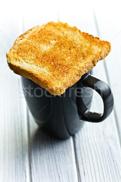 焼いた パン コーヒーマグ 朝食 グループ ディナー ストックフォト © jirkaejc