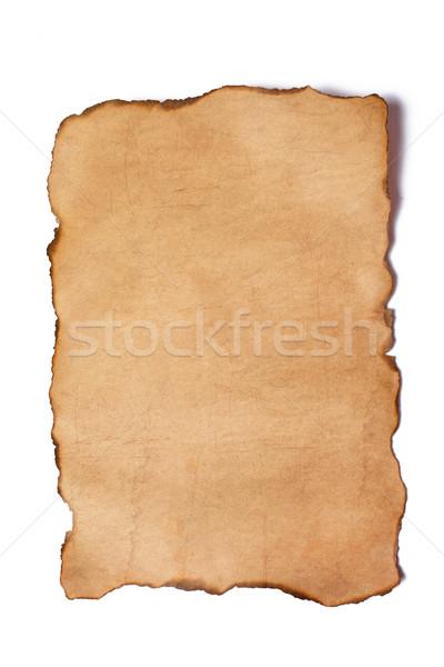 Klasszikus papír fehér háttér hátterek antik Stock fotó © jirkaejc