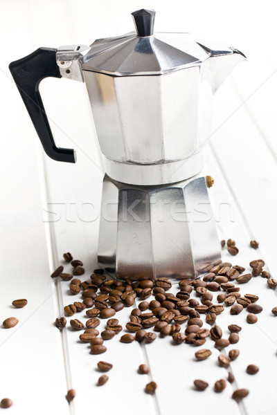 coffee maker with coffee beans Stock photo © jirkaejc