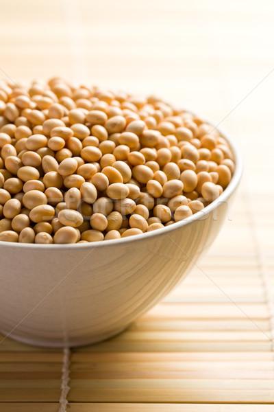 soya beans in ceramic bowl Stock photo © jirkaejc