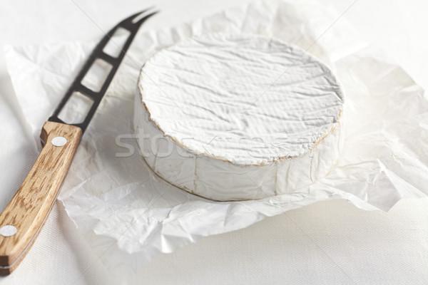 Queijo camembert queijo faca comida leite Foto stock © jirkaejc