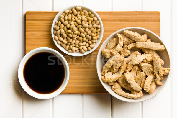 various soy products in bowls Stock photo © jirkaejc