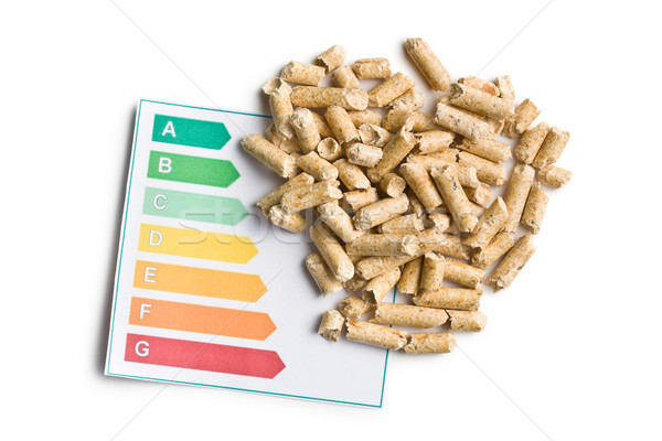 wooden pellets and energy efficiency levels Stock photo © jirkaejc