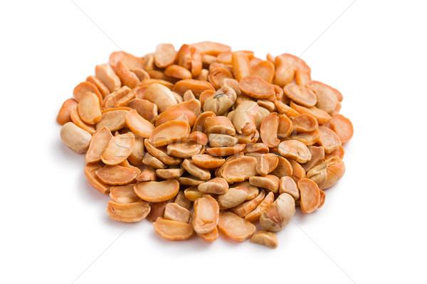 roasted soya beans on white Stock photo © jirkaejc