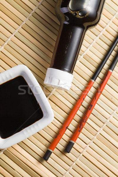 soy sauce and chopsticks Stock photo © jirkaejc