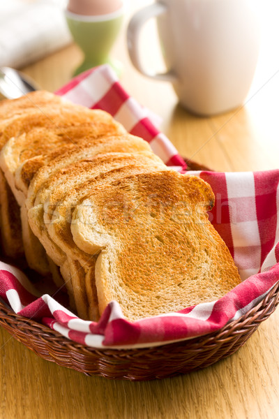 Café da manhã branco torrado pão grupo Foto stock © jirkaejc