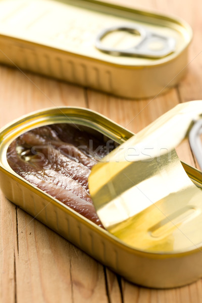 anchovies fillets in tin can Stock photo © jirkaejc