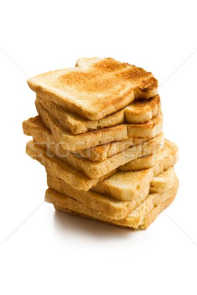 Branco torrado pão jantar café da manhã Foto stock © jirkaejc