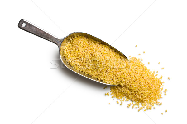 bulgur wheat in metal scoop Stock photo © jirkaejc