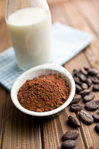 cocoa powder with milk Stock photo © jirkaejc