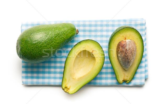 Stok fotoğraf: Peçete · gıda · arka · plan · yeşil · yeme
