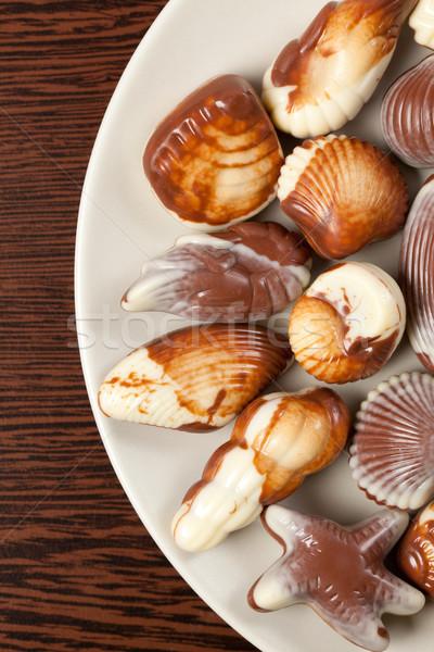 chocolate seashells Stock photo © jirkaejc