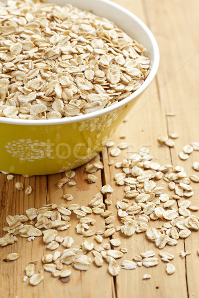 Mesa de madeira foto tiro comida saúde Foto stock © jirkaejc